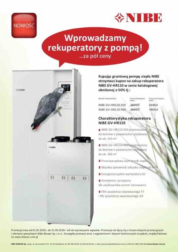 NIBE ulotka promocja rekuperatory pompy ciepła 50%