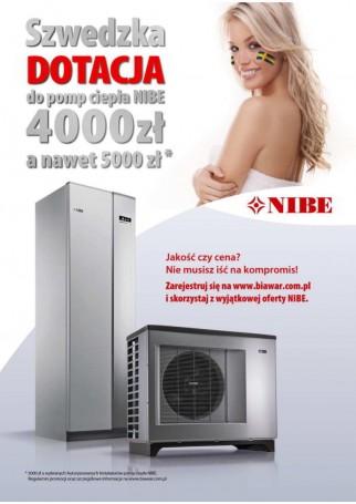 Szwedzka dotacja do pomp ciepła NIBE 2015 - Faba