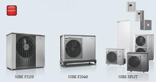 Powietrzne pompy ciepła NIBE